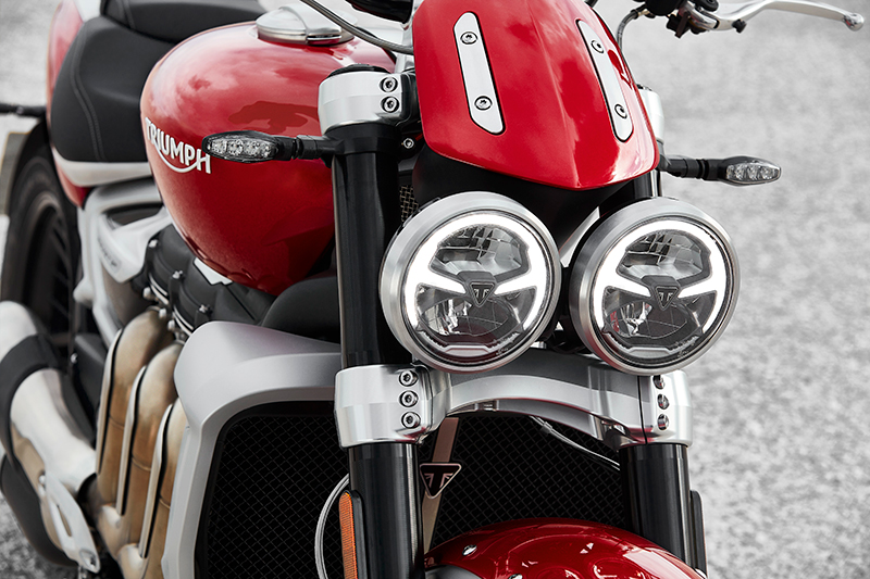 Triumph Rocket 3 R headlights