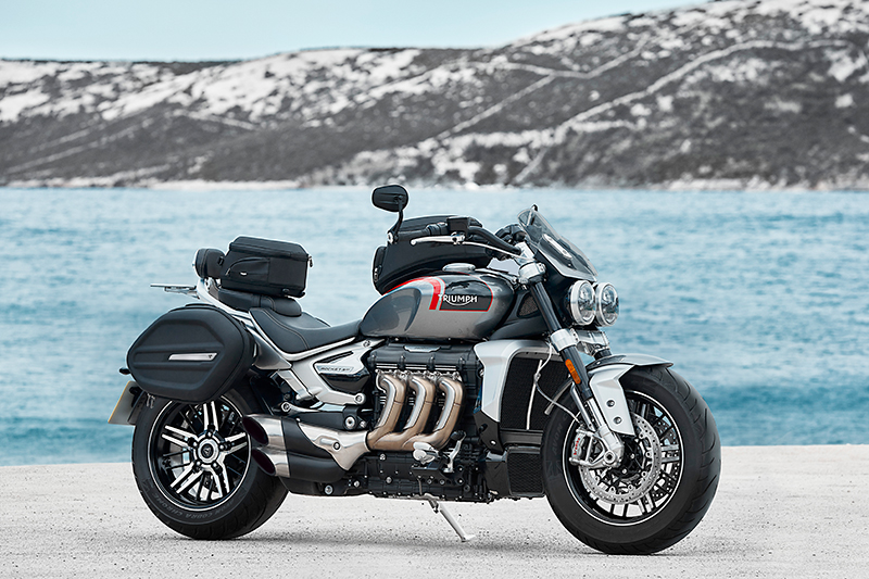 Triumph Rocket 3 GT with luggage