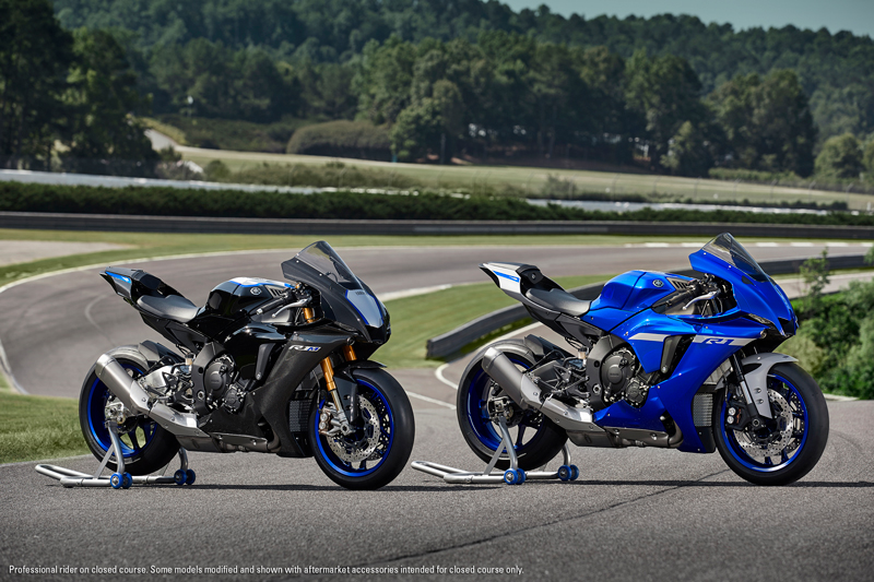 2020 Yamaha YZF-R1M and YZF-R1