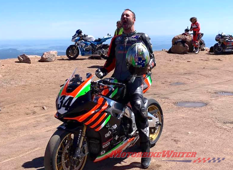 Australian motorcycle journalist Rennie Scaysbrook has posted a video of his record run at the recent Pikes Peak International Hillclimb in Colorado. forever