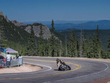 Don Canet on the Victory Motorcycles and Roland Sands Design Project 156 at Pikes Peak International Hillclimb 2015 forever