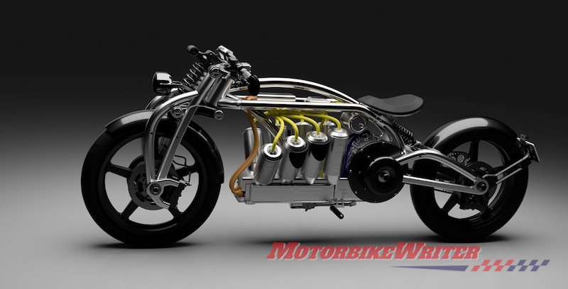 Curtiss Zeuss Hades electric motorcycle