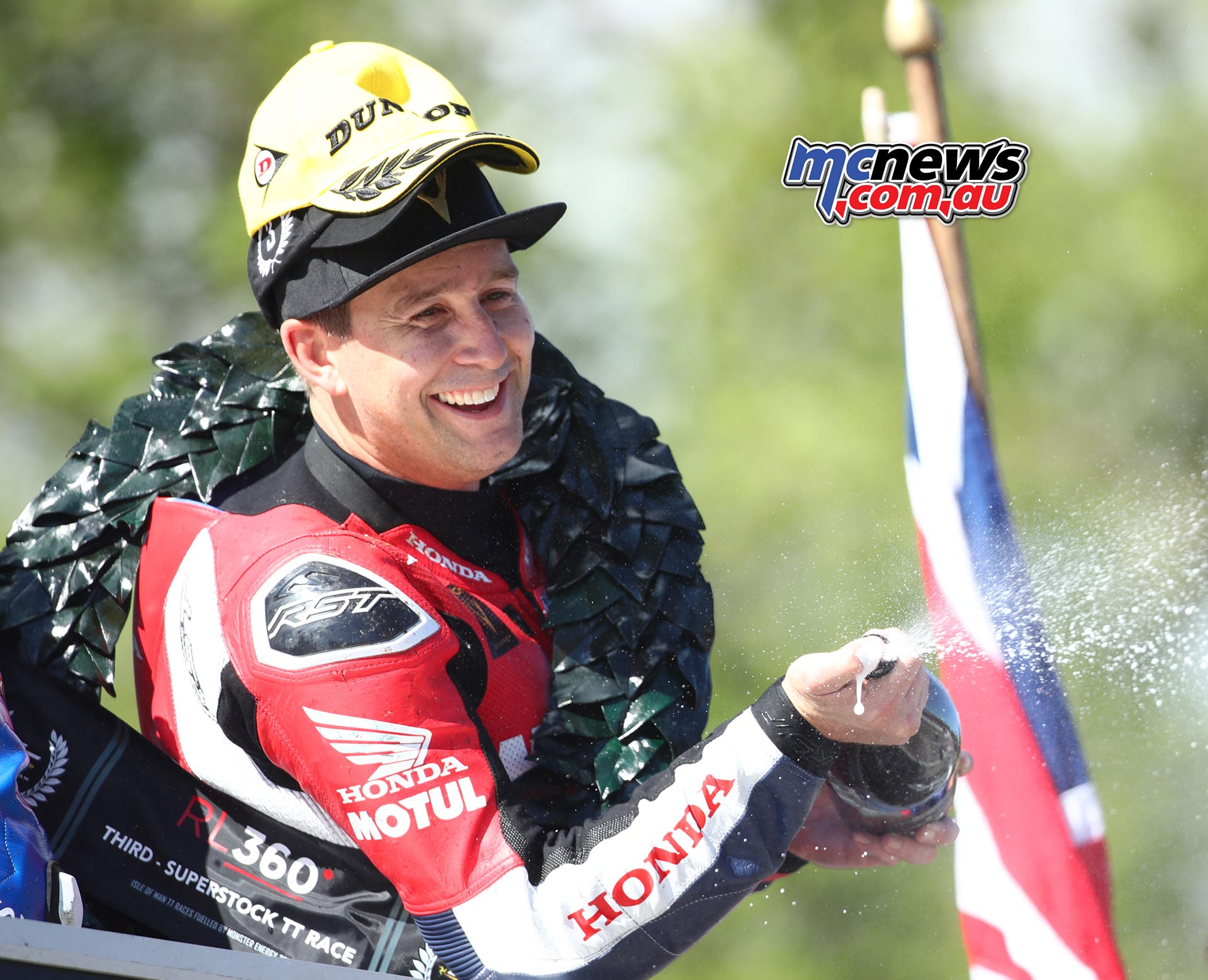 IOMTT David Johnson Supertock Podium HondaImage