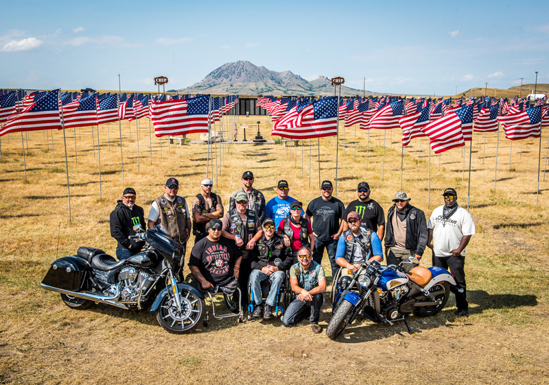 Veterans Charity Ride with Indian