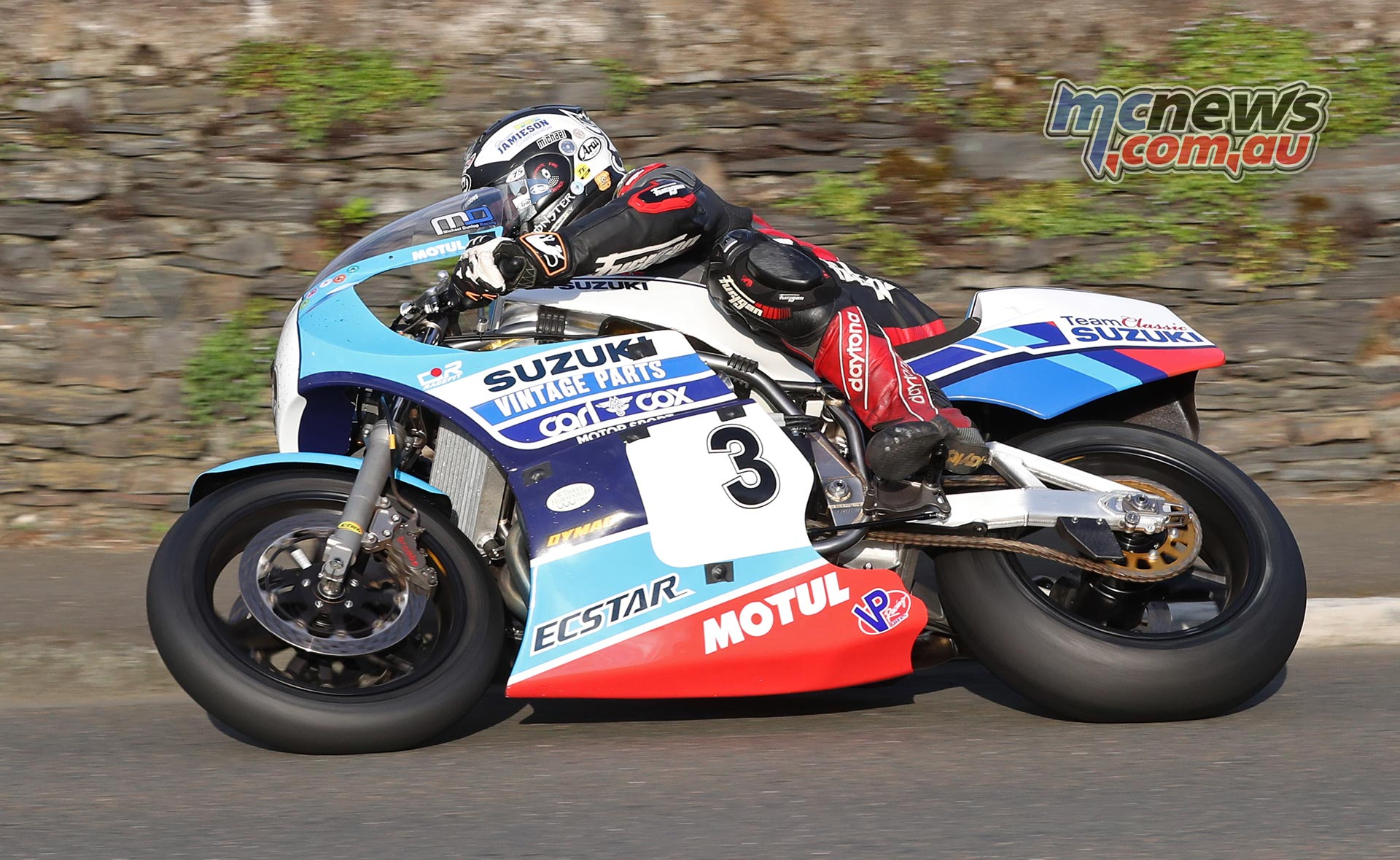 Michael Dunlop (1000 Suzuki/Team Classic Suzuki) at Douglas Road corner, Kirk Michael during Friday evening's Classic TT qualifying session. PICTURE BY DAVE KNEEN/PACEMAKER PRESS
