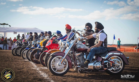 Sikh Motorcycle Club rides for charity sikhs turban plea