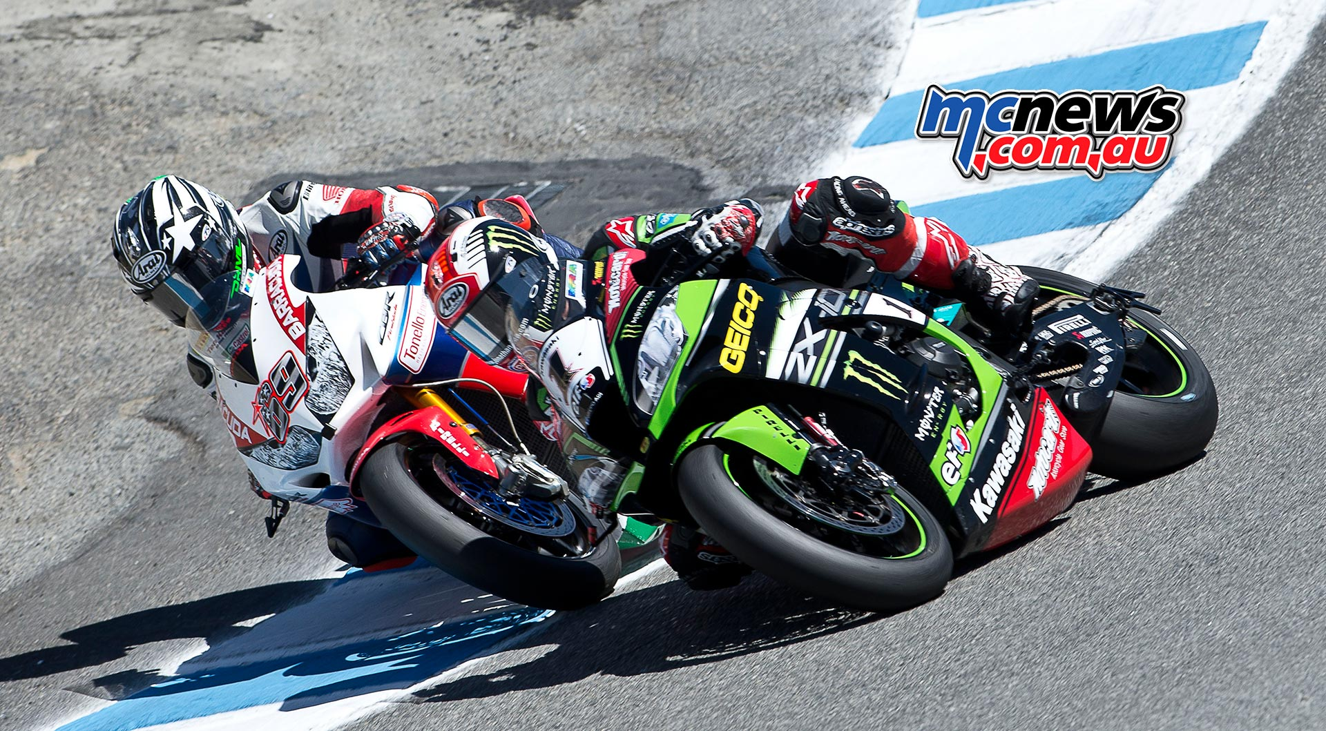 Nicky Hayden and Jonathan Rea