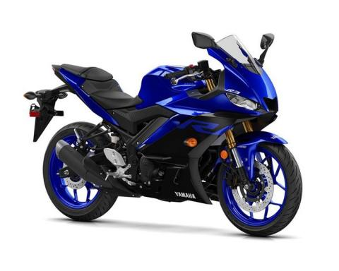 Photograph of Yamaha YZF-R3A breaking