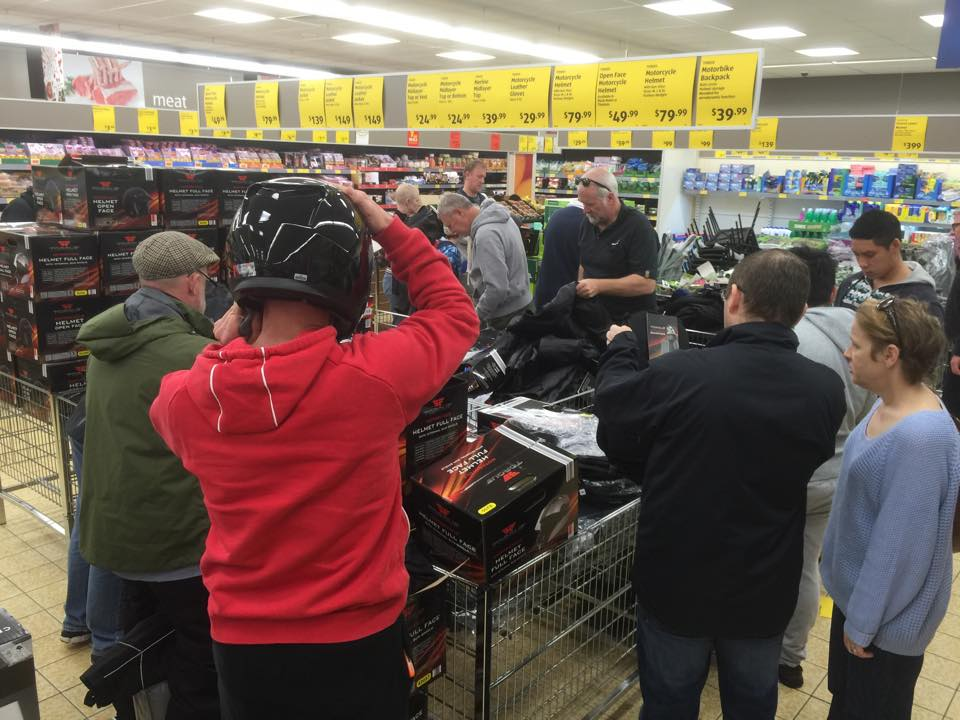 Aldi annual sale - Riders urged to support motorcycle dealers claims
