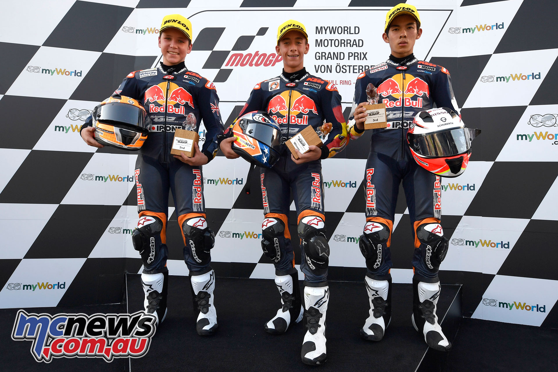 Red Bull Rookies Cup Rnd Austria Race Podium