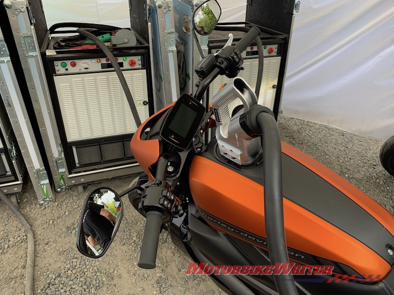Harley-Davidson LiveWire electric motorcycle electric highways