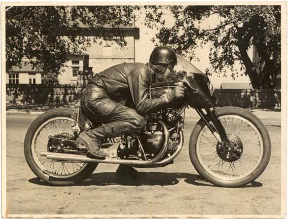 Jack Ehret's Vincent Black Lightning collection valuable - speed twin
