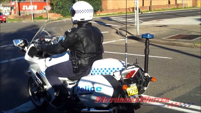 NSW motorcycle police - scrooge