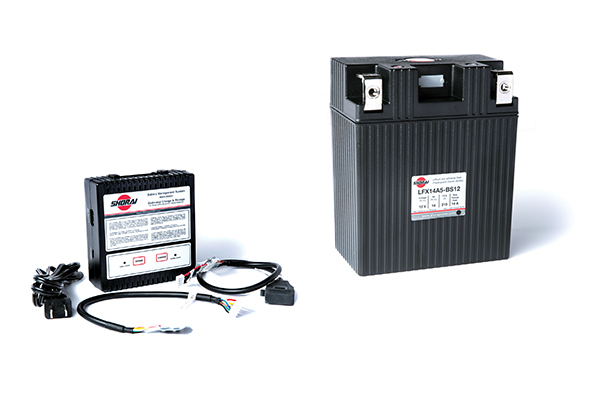 Shorai Lithium LFX Battery and Charger.