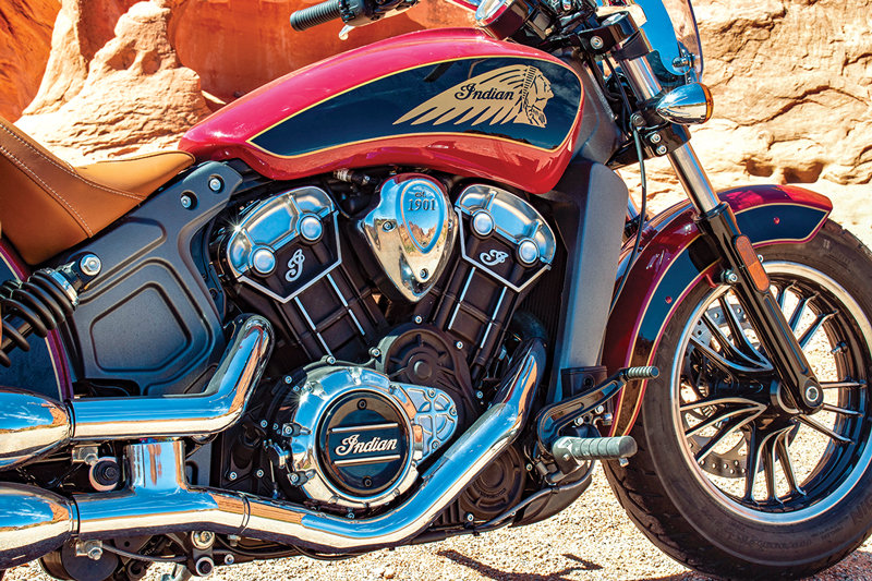 Indian Scout engine