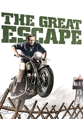 The Great Escape movie poster motorcycle chase reels
