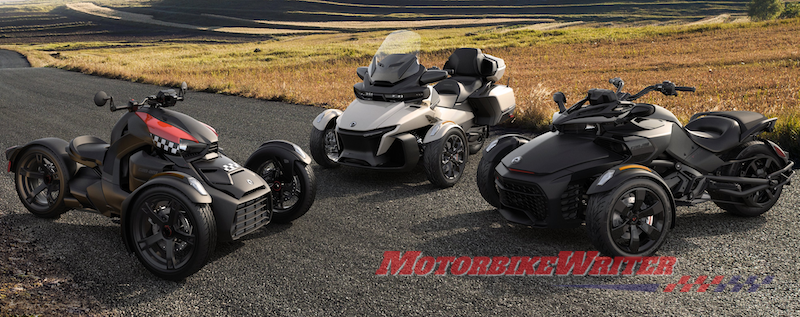 20202 Can-Am Spyder and Ryker models prototypes