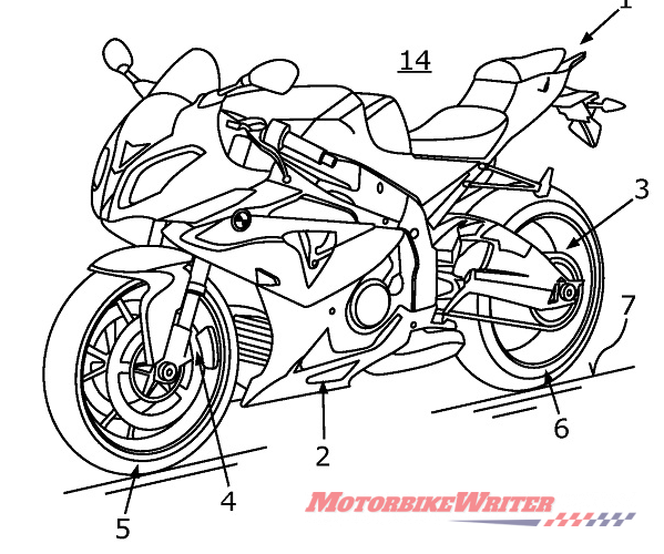 Supercharged BMW S 1000 RR patent drawing