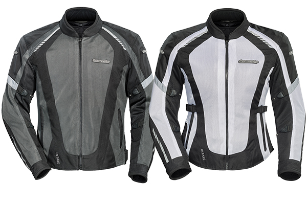 Tourmaster Intake Air 5.0 Mesh Jacket in men's (left) and women's (right) sizes