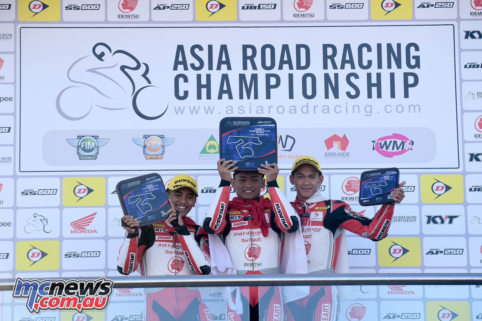 Ahrens topped the Race 2 podium from Aju and Sanjaya