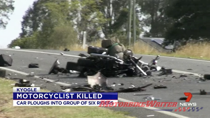 Car ploughed into riders month