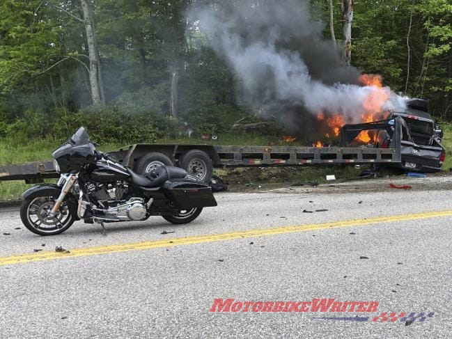 Pick-Up crash with US riders accident