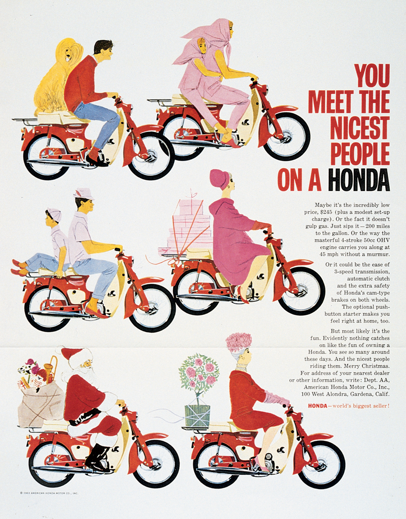 You Meet the Nicest People on a Honda ad