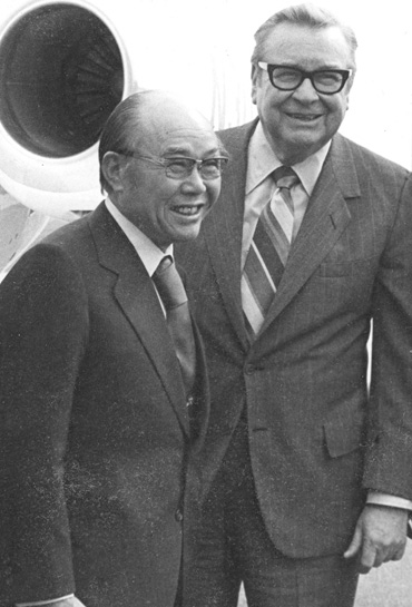 Soichiro Honda and Governor James Rhodes