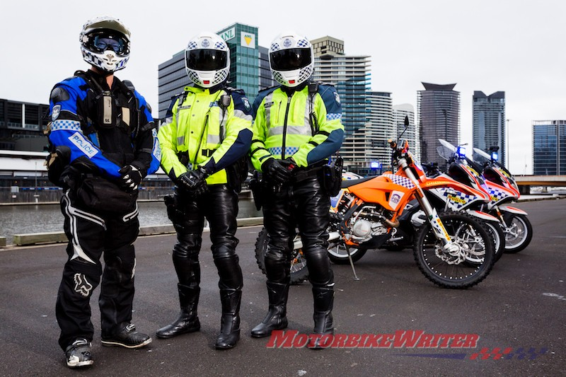 Victoria Solo Unit motorcycle police uniforms remove demerit