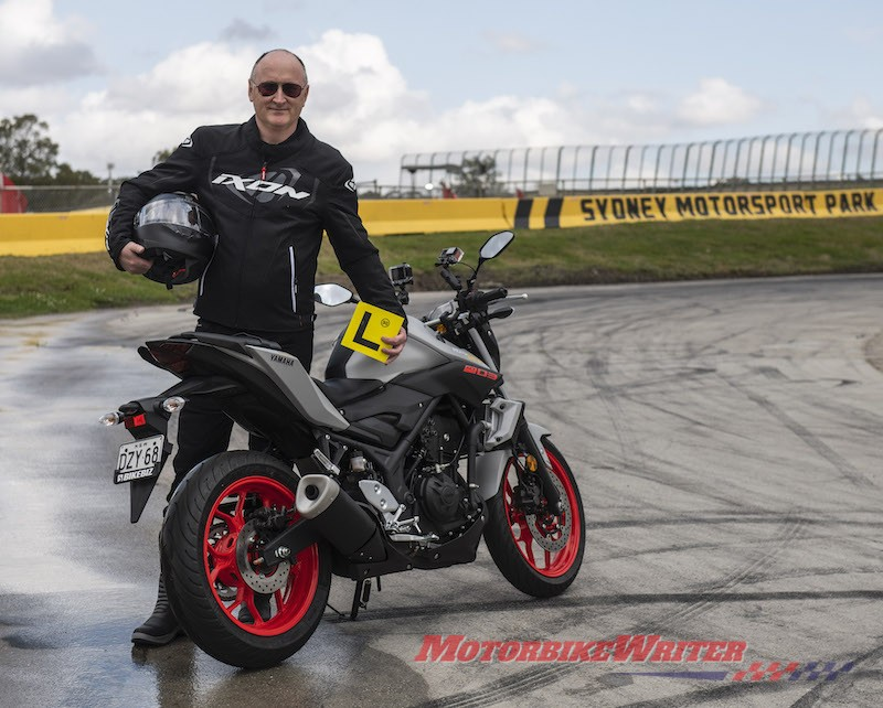 FCAI CEO Tony Weber is learning to ride a motorcycle NGK dive