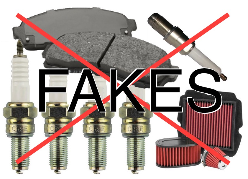 Riders warned after fake parts haul
