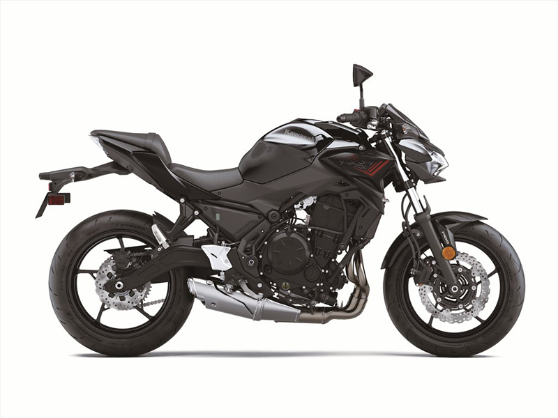 2020 Kawasaki Z650 in Metallic Spark Black.