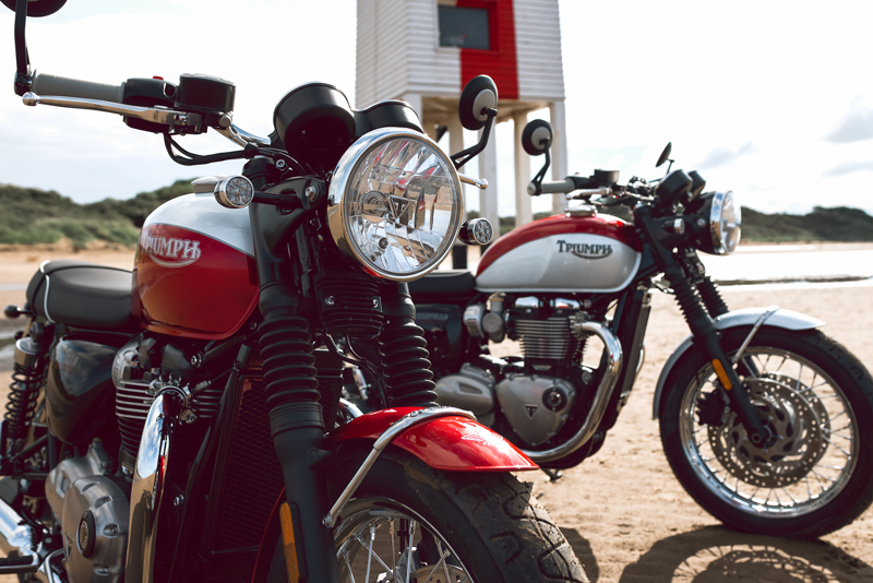 2020 Triumph Bonneville T100 and T120 Bud Ekins Editions