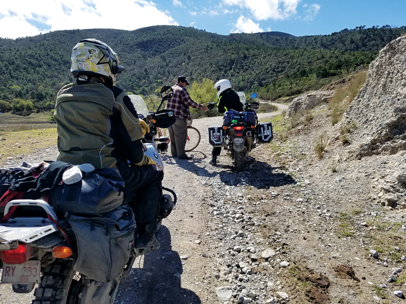 motorcycle ride in Mexico