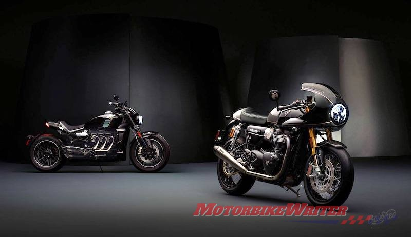 Triumph Thruxton and Rocket 3 TFC ace diamond