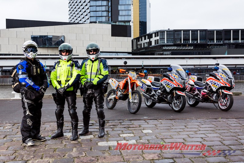 Victoria Solo Unit motorcycle police uniforms long weekend visible