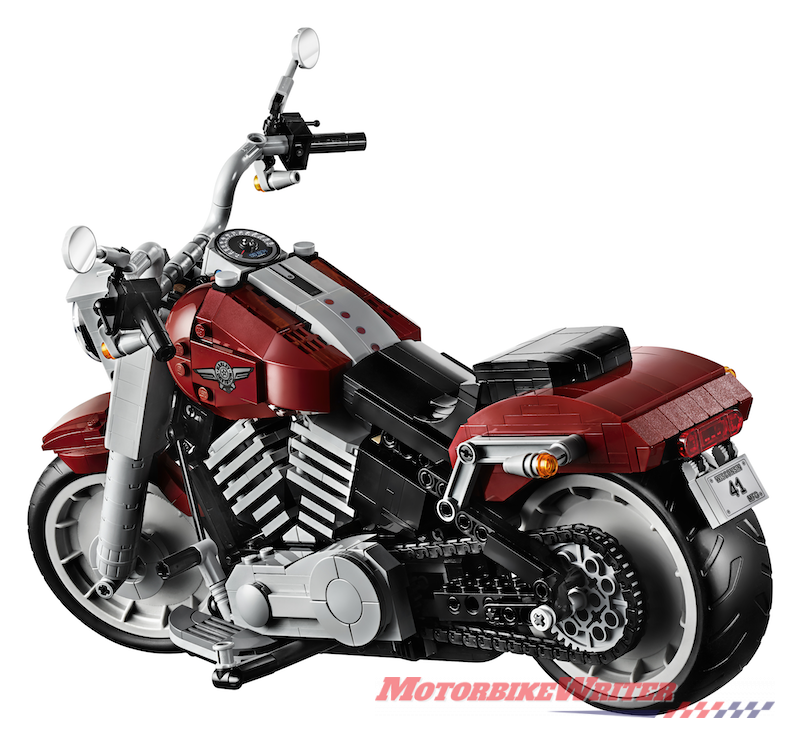 Lego Harley-Davidson Fat Boy scale model