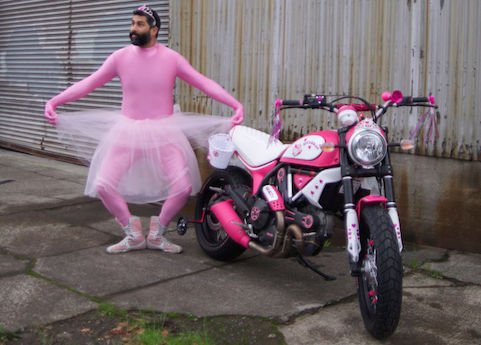 Pink Hello Kitty Ducati Scrambler revenue male slips
