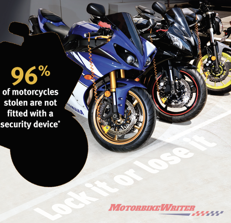 Police survey on motorcycle thefts