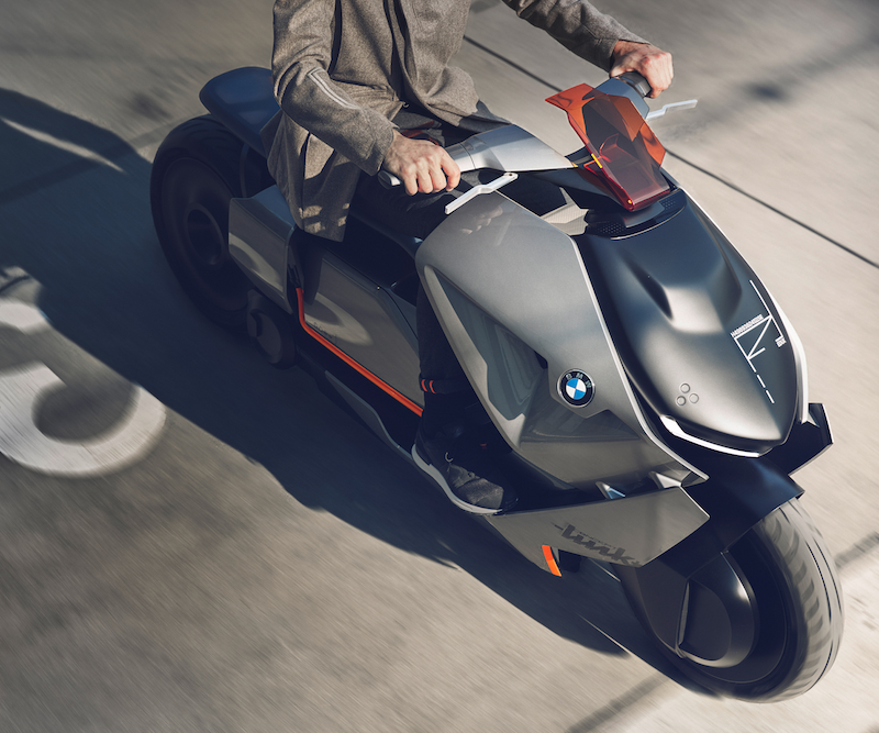 BMW Concept Link electric scooter sharing hiring