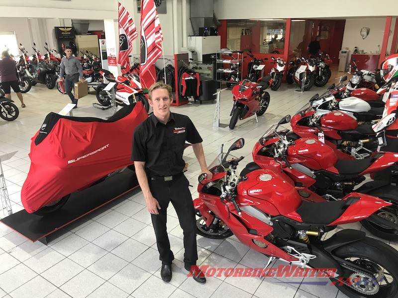 James Mutton Brisbane Motorcycles discounting teammoto