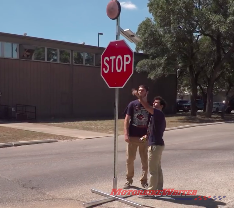 Safer stop signs alert