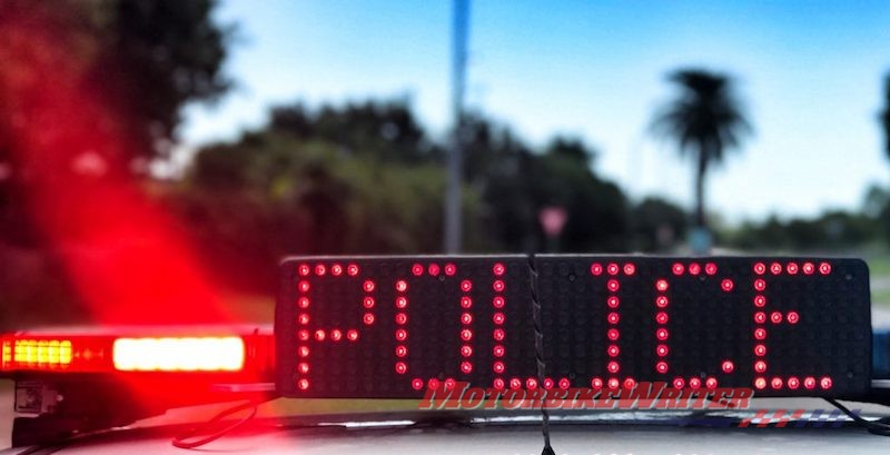 Cops Police motorcycles witnesses emergency fatal witnesses police pursuit unlicensed 280km motorcycle rider