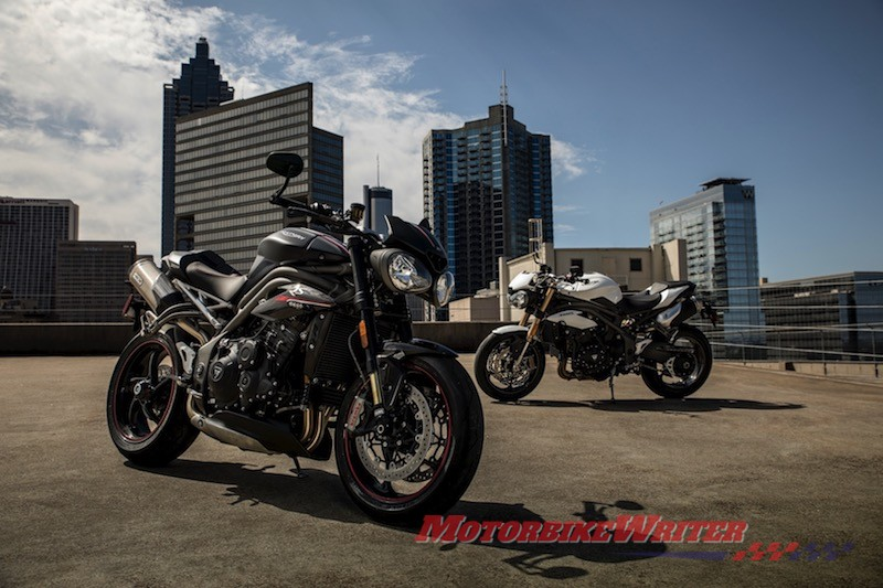 2018 Triumph Speed Triple RS and S recalls