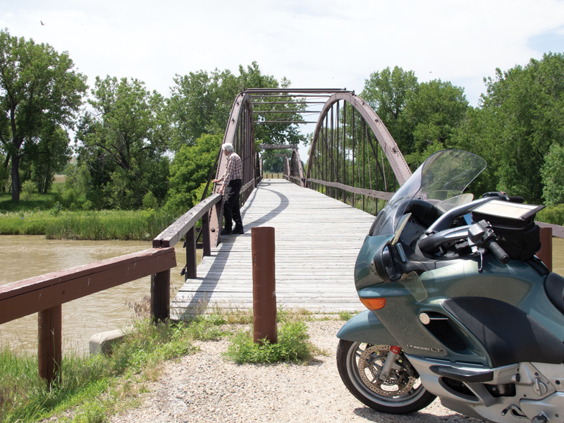 bowstring style iron truss bridge dating from 1875 over the North Platte River helped improve access to Fort Laramie