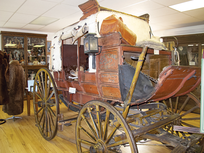 An original wagon of the Cheyenne to Black Hills Stage Line is on display at the Stagecoach Museum in Lusk.
