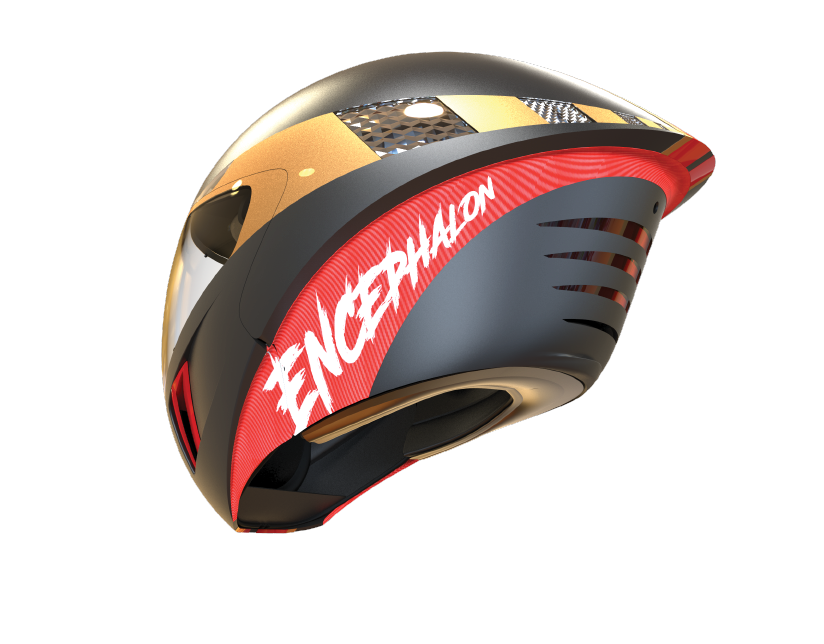 Encephalon hi-tech motorcycle helmet events fan