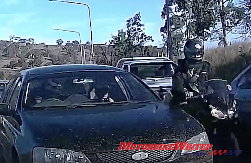 menace ACT police are seeking to charge this driver with road rage on legally filtering riders https://motorbikewriter.com/lane-filtering-road-rage-charge-stalled/ mencaing appeal rejected