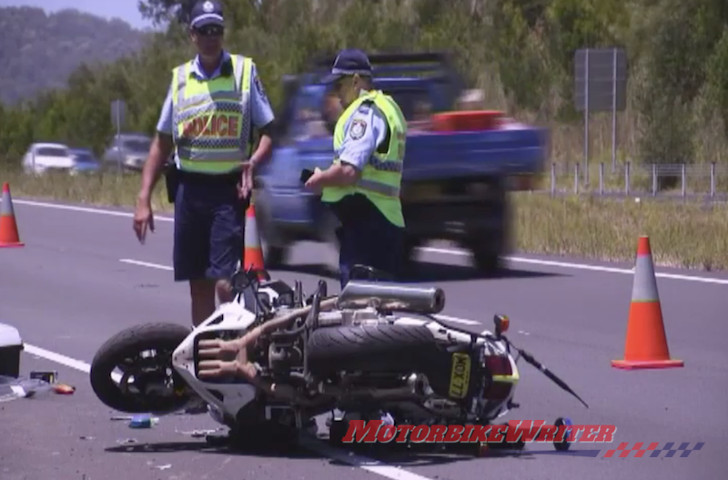 Cop injured under new speed rule crash police emergency 40km/h charged