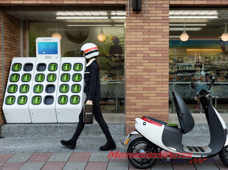 Yamaha Gogoro battery swap electric scooter